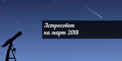 Астросовет для всех знаков Зодиака на март 2018