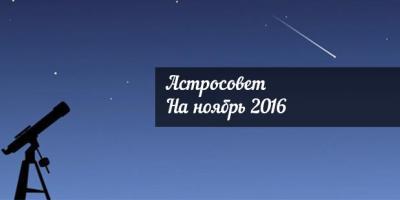 Астросовет для всех знаков Зодиака на ноябрь 2016