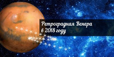 Ретроградная Венера в 2018 году